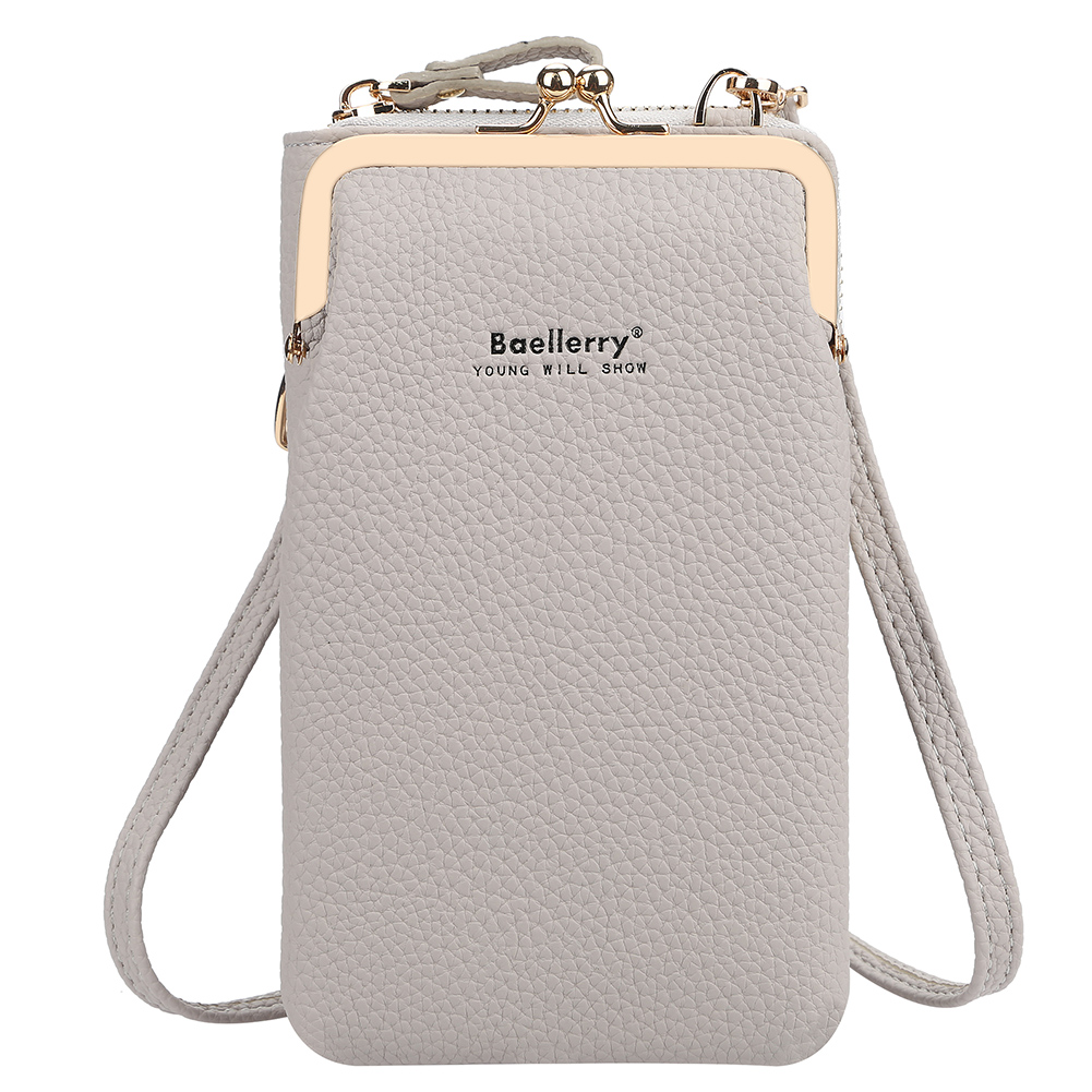 Women Satchel Crossbody Bag Mini PU Leather Shoulder Messenger Bag for Girls Phone Purse gray