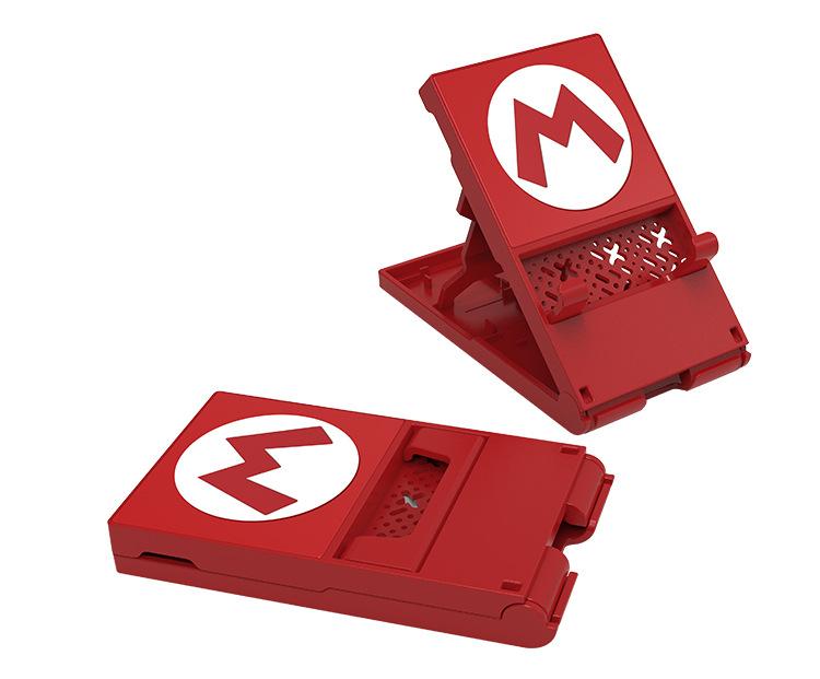 Portable Folding Stand Storage Bracket Holder for Nintendo Switch Lite  Red M