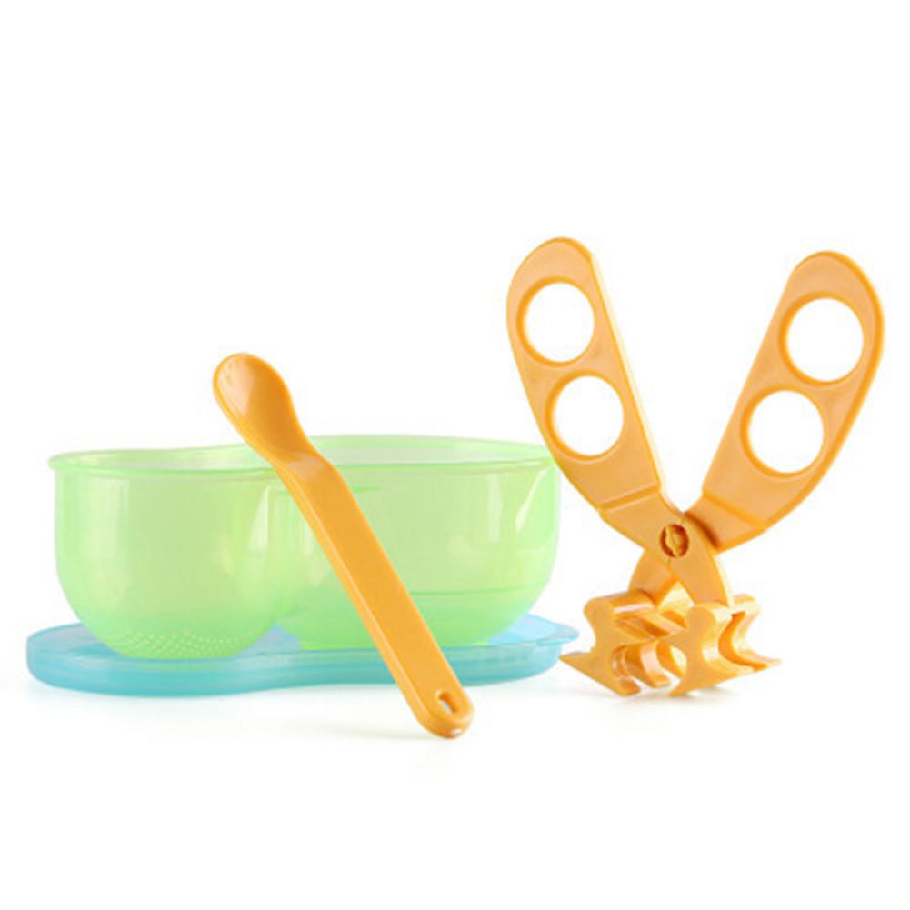 Multi-function Portable PP Clip Scissors Baby Food Cut Supplement Scissors Green