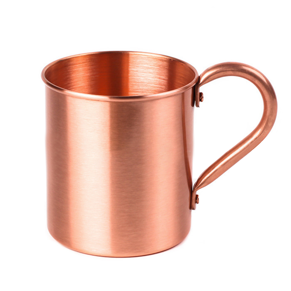 Smooth Copper Moscow Mule Mug for Cocktail Coffee Beer Milk Water