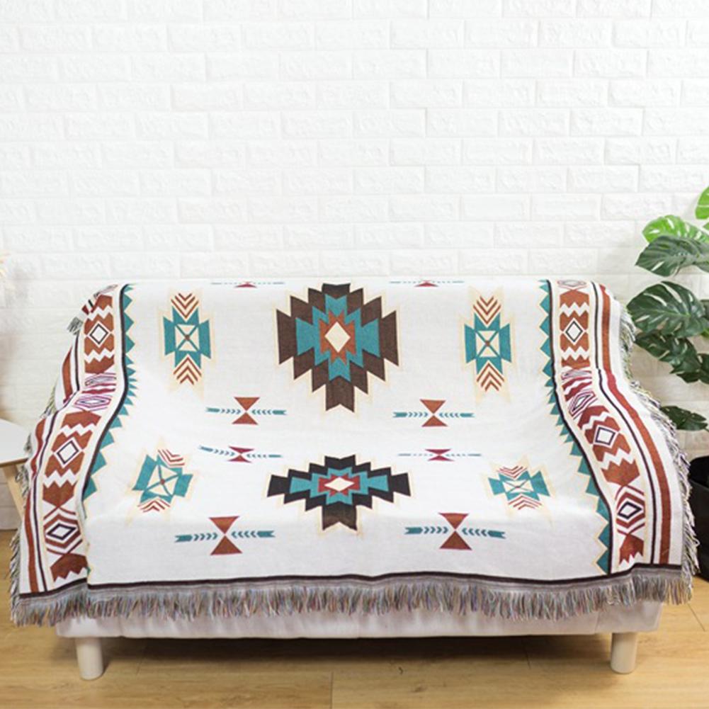 Geometry Throw Blanket Sofa Cobertor Hanging Tapestry for Sofa Bed Plane Travel
