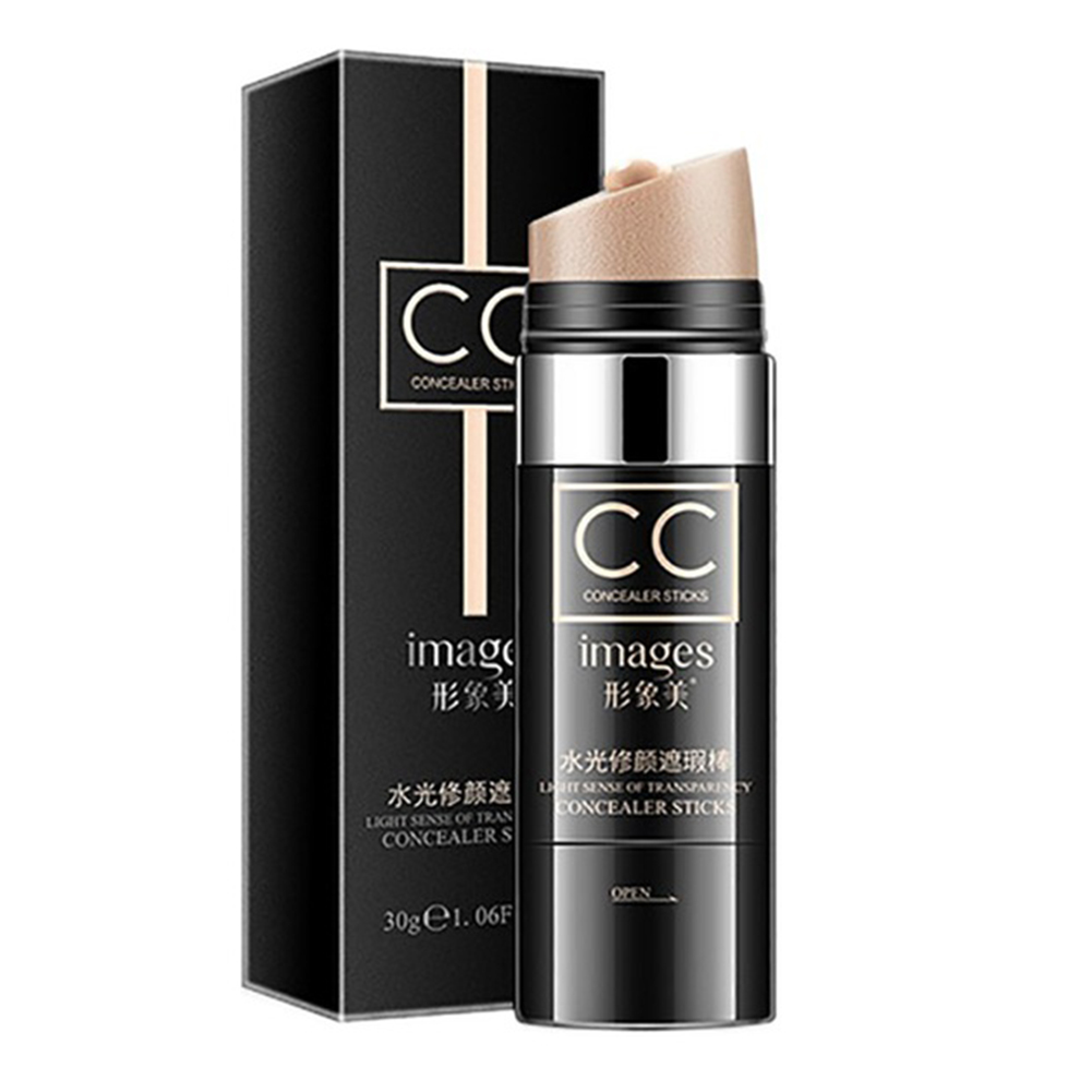 [Indonesia Direct] CC Cream Concealer Powder Foundation Moisturizing Natural Cover Up Waterproof Whitening Face Concealer Stick