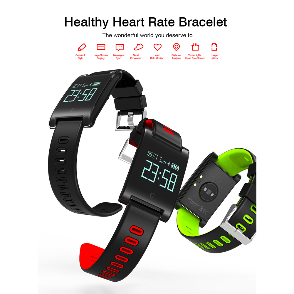 DM68PLUS 0.95 Inch Smart Bracelet Heart Rate Blood Pressure Monitor Sleep Activity Health Tracker (Red)