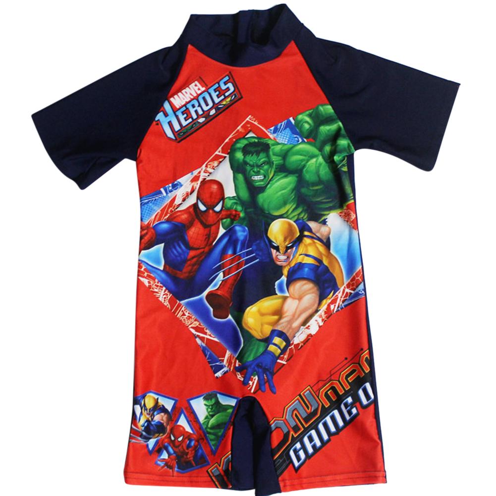 [Indonesia Direct] Cartoon Boy Kids Swimsuit Muslimah Swimwear  Hulk_M