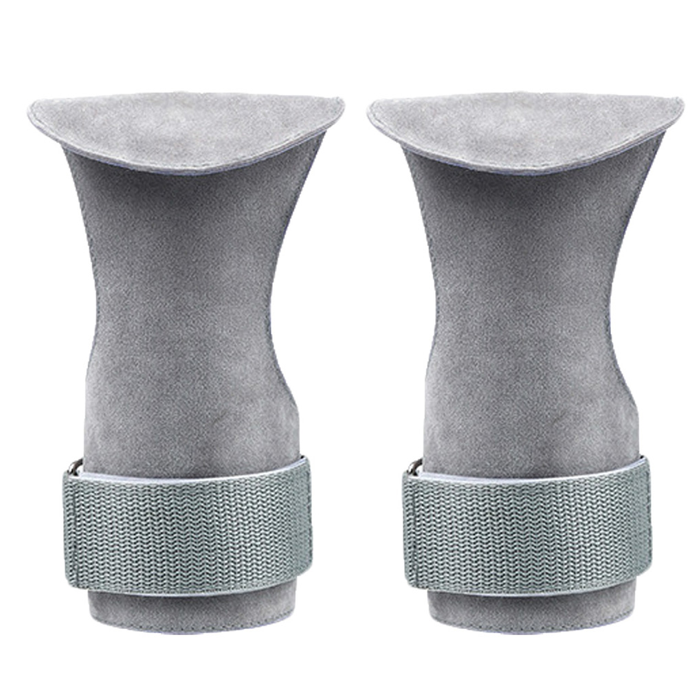 A Pair Of Palm Imitation Leather Wear-resistant Wrist Protector Fitness Weightlifting Equipment gray