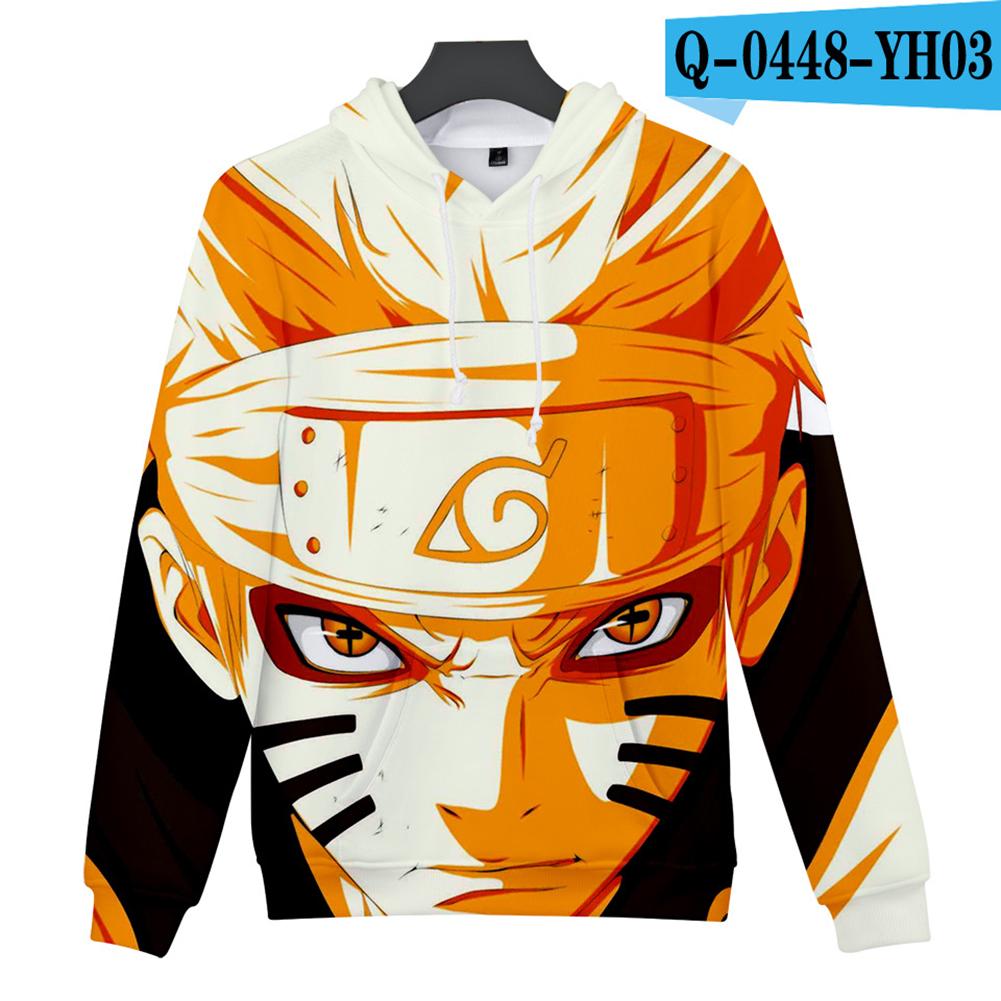 Men Women 3D Naruto Series Digital Printing Loose Hooded Sweatshirt Q-0448-YH03 G_S