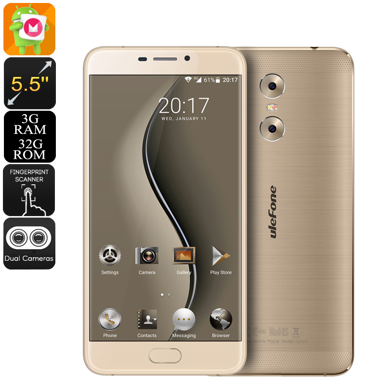 Ulefone Gemini Android Phone (Gold)