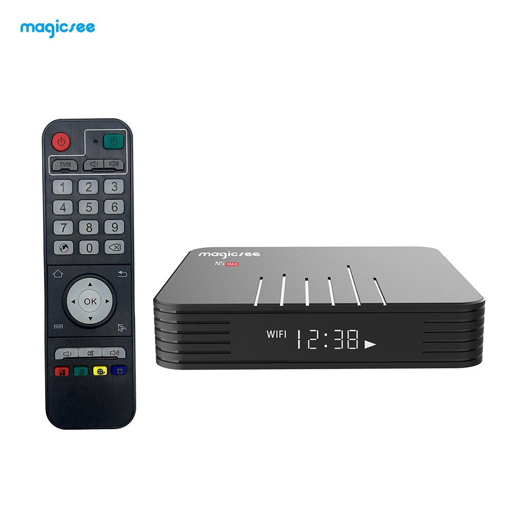 N5 Max Amlogic TV BOX S905X3 Android 9.0 4G 32G/64G Rom 2.4+5G Dual Wifi Bluetooth4.1 Smart Box 8K Set Top Box black_4 + 64GB European regulations