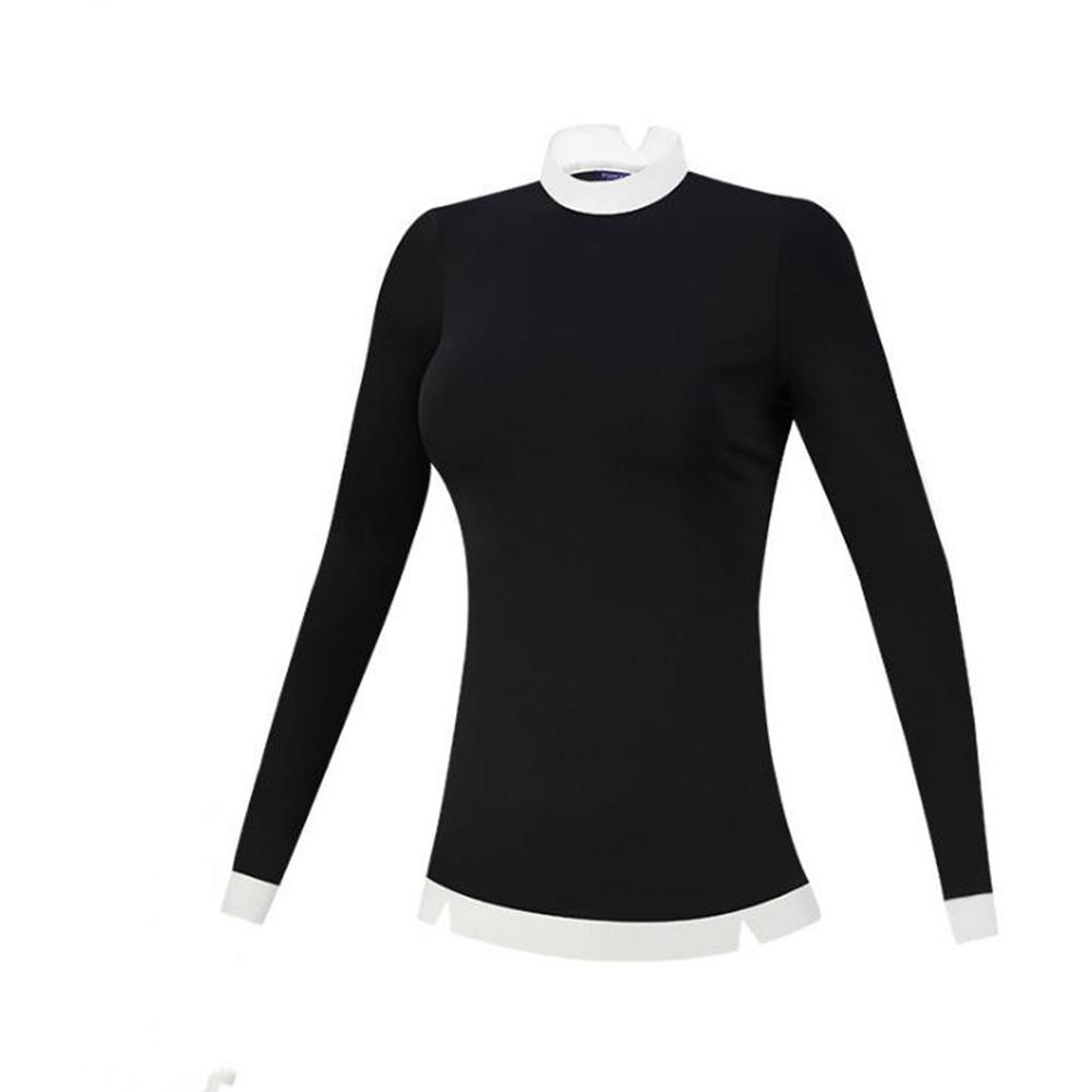 Golf Clothes Female Autumn Winter Clothes Long Sleeve T-shirt Slim Golf Suit for Women black_L