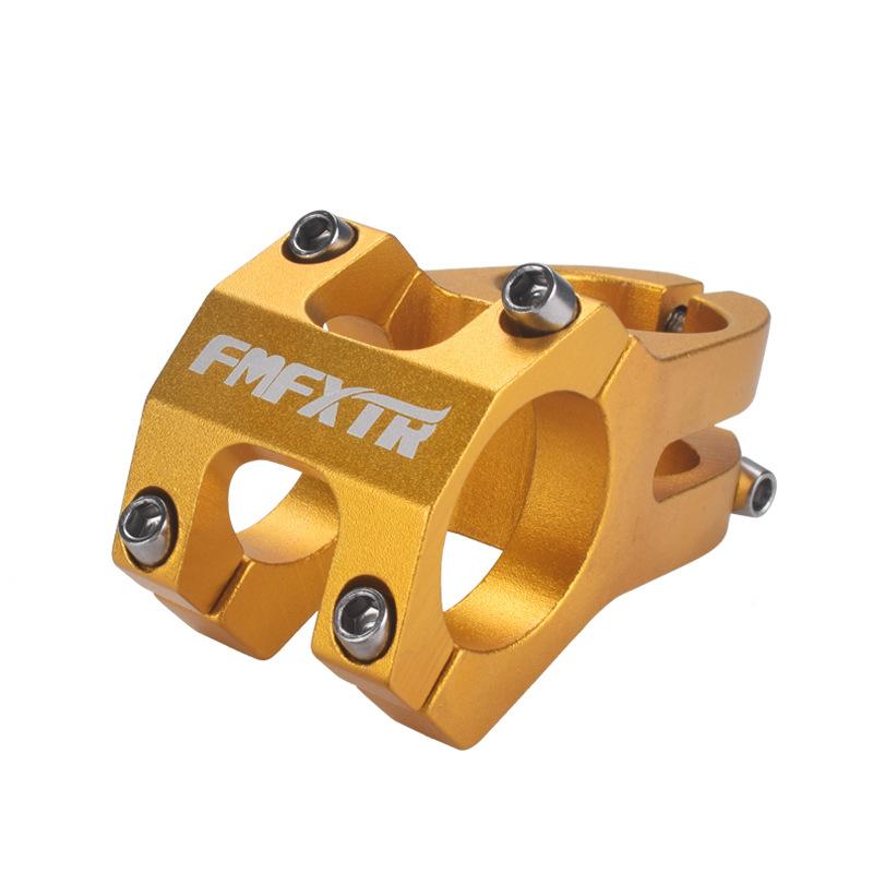 Mountain Bike Handlebar Faucet Accessories Bicycle Downhill Short Handle Climbing Bike Hollow Stem Riser 31.8mm gold