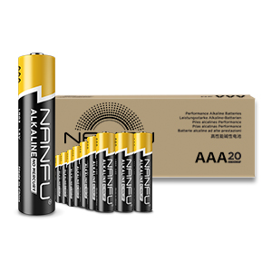 [US Direct] Nanfu AA Alkaline Batterie, Stronger power, Longer lasting, Safer usage (20-Pack) Black/Yellow