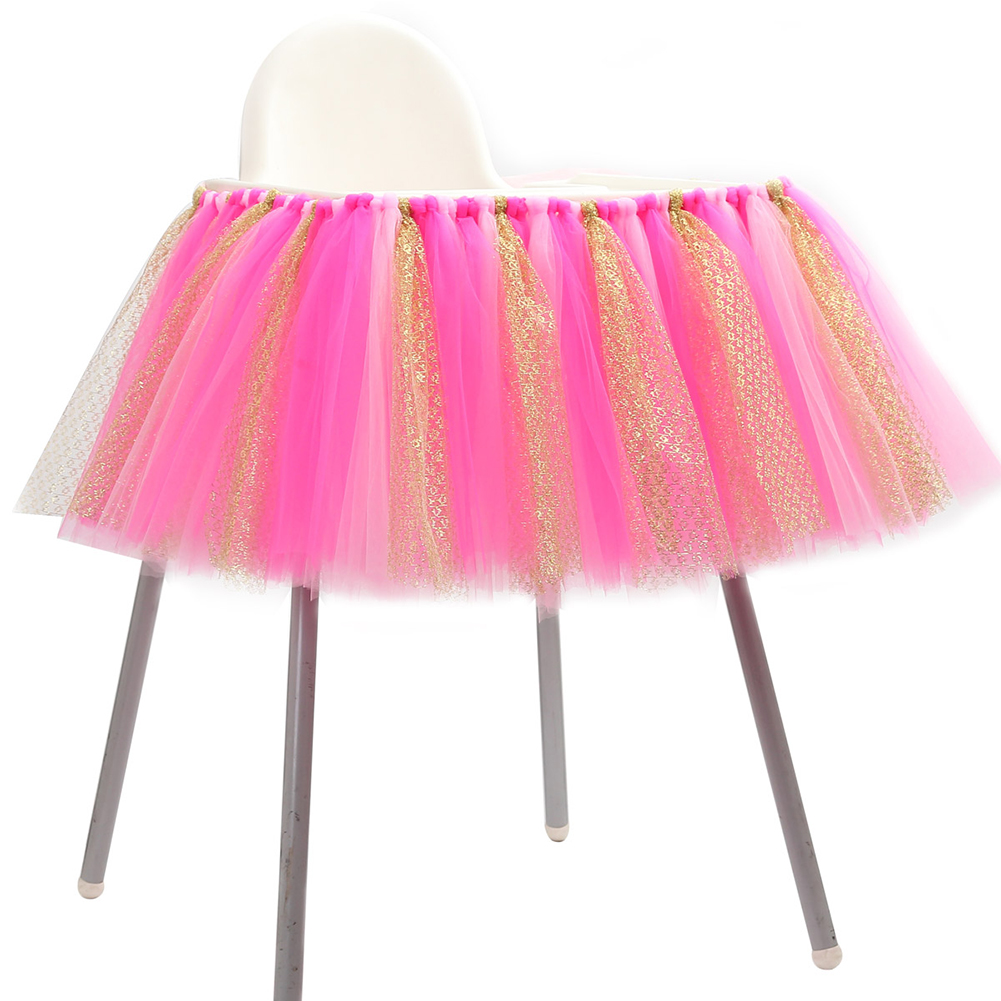 [EU Direct] Tulle Table Skirts Cover Table Cloth for Girl Princess Party, Baby Shower, Slumber Party, Wedding, Birthday Parties and Home Decoration-Beautiful, Eye Catching & Unforgettable Party Centerpiece, 36 *