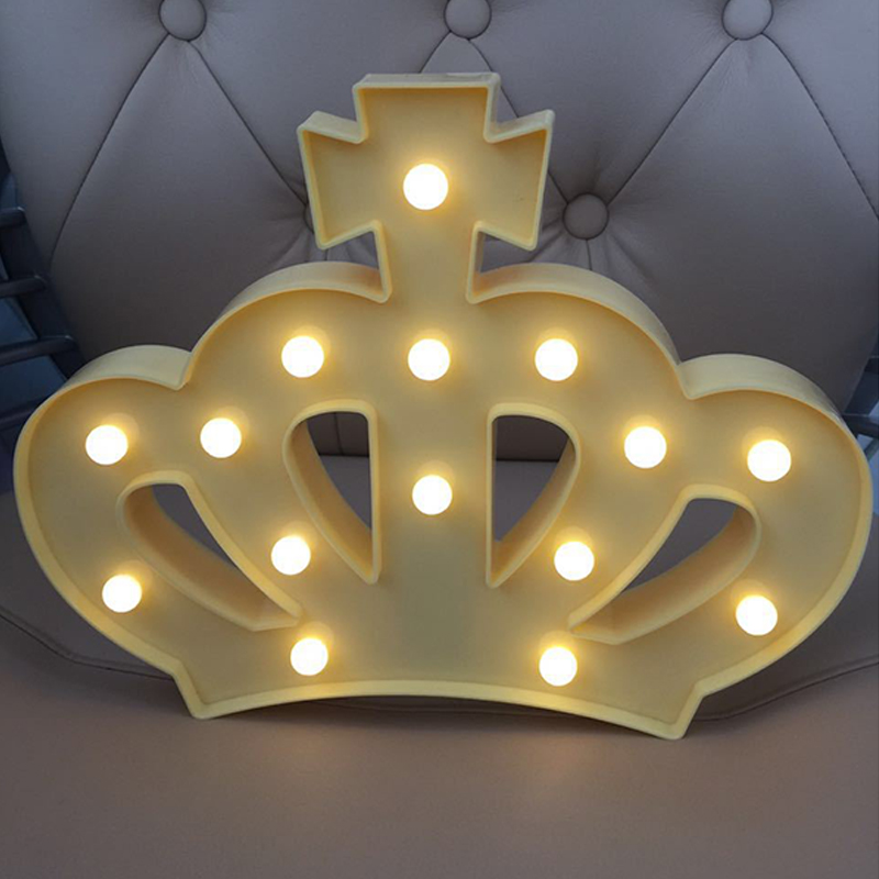 15 LEDs Night Light, 3W Crown Shape Warm White Light Table Lamp, Indoor Decorative Nightlight for Kids Room Christmas Party Decor