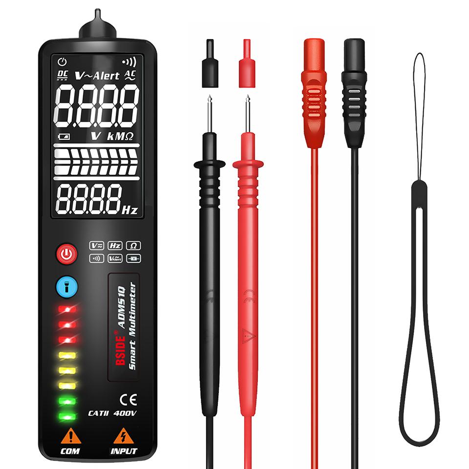 Adms1q Lcd Voltage  Tester  Pen Non-contact Ac Voltage  Detector Ohm  Hz  Volt  Continuity  V-alert Voltmeter ADMS1Q (English reverse display screen)