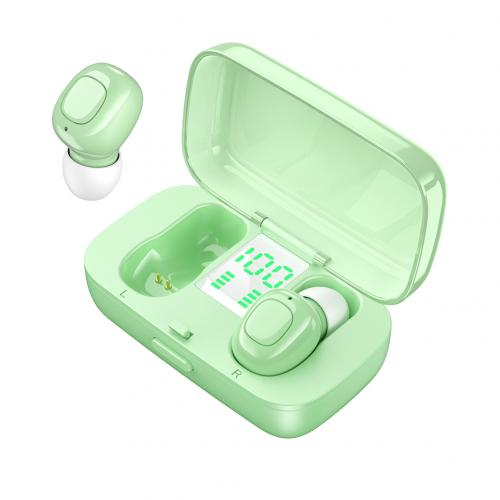XG21 Wireless Earphone Bluetooth V5.0 LED Display TWS In-ear Earbuds Sweat Resistant Sports Headphone HiFi Sound Headsets Green