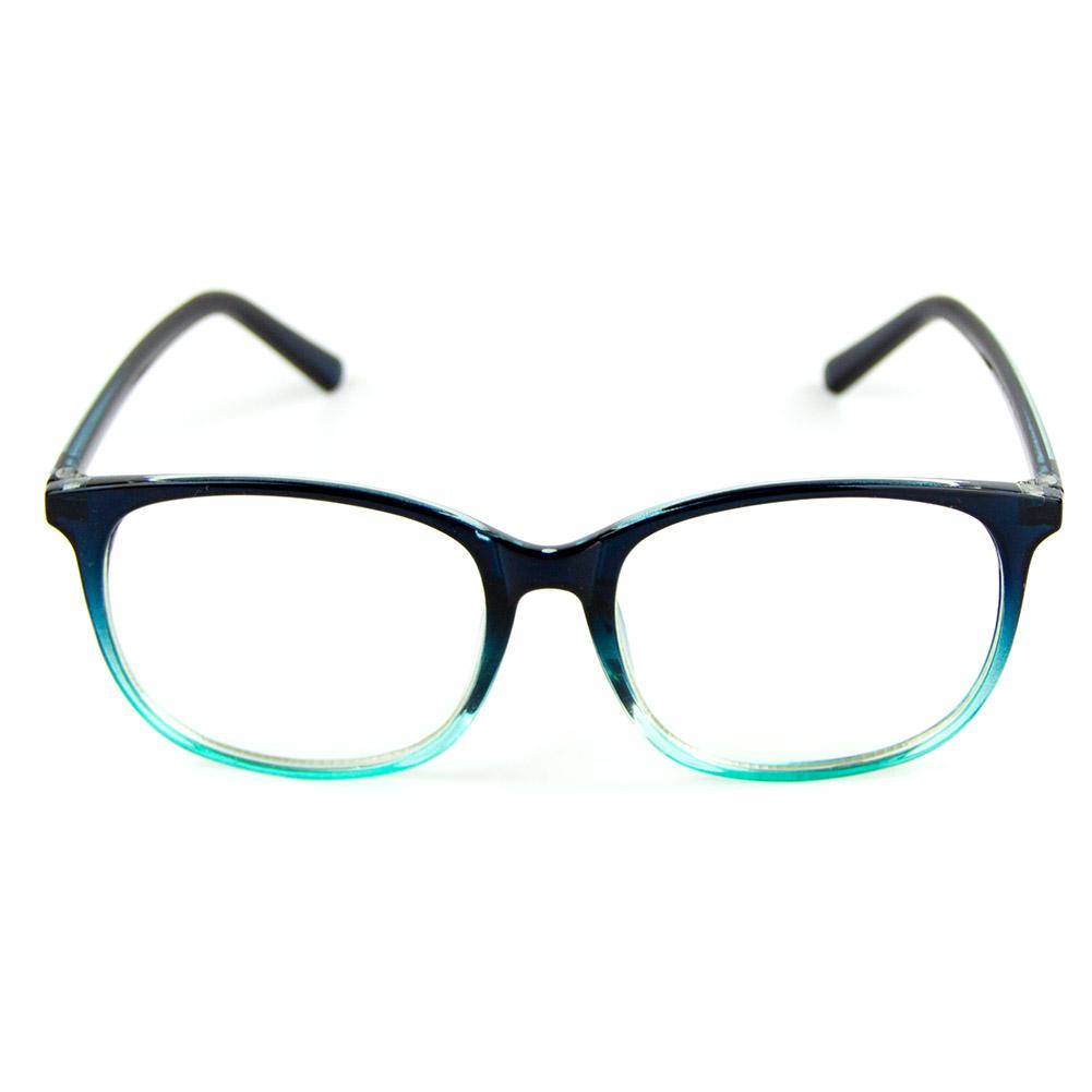 [US Direct] Cyxus Anti Blue Light Computer Glasses for Blocking UV Eye Strain Headache, Reading Eyewear (8065T01, Bright Black) Block Droplets Blue Gradient_M
