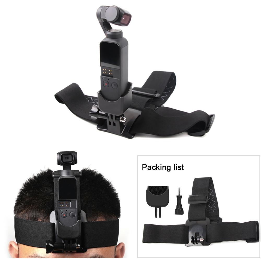 Sunnylife for GoPro Head Strap Headband Mount Holder with Adapter for DJI OSMO Pocket Camera  black