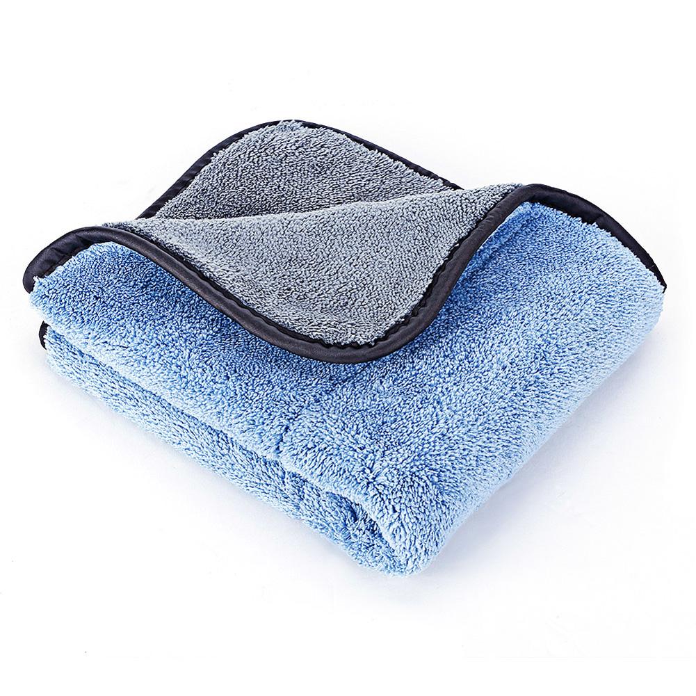 Car Care Polishing Wash Towels Car Clean Towels  Plush Microfiber Washing Drying Car Cleaning Cloth Blue gray