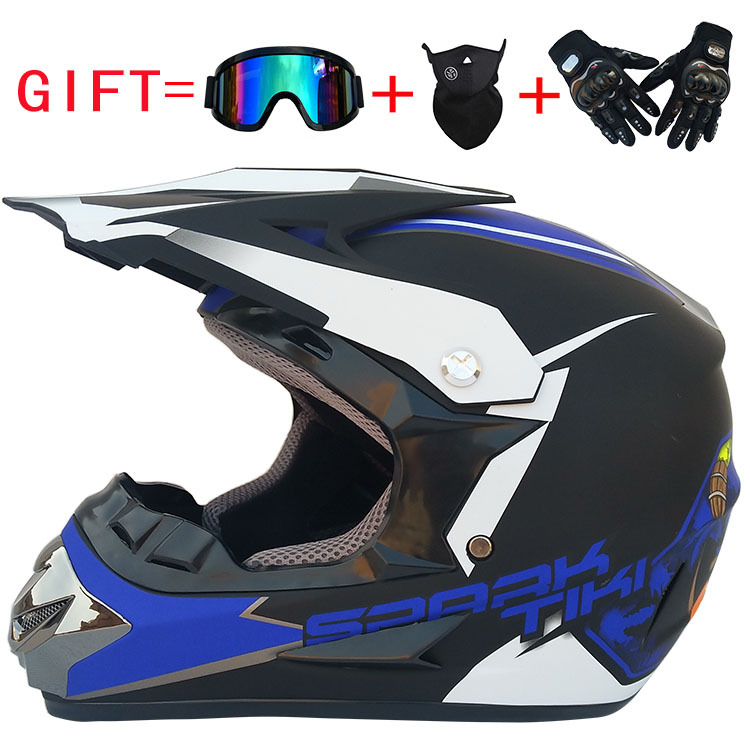 Fashion Outdoor Off Road Casco Motorcycle & Moto Dirt Bike Motocross Racing Helmet Set with Mask XL