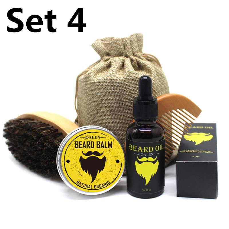 Beard  Growth  Set Hair Growth Enhancer Oil Nourishing Beard Grow Kit With Brush Comb combination