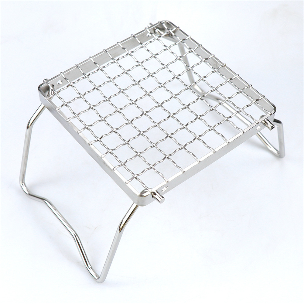 Mini Folding Grill  Rack With Adjustable Gear Camping Stove Bbq Grill Rack For Outdoor Camping Hiking as picture show