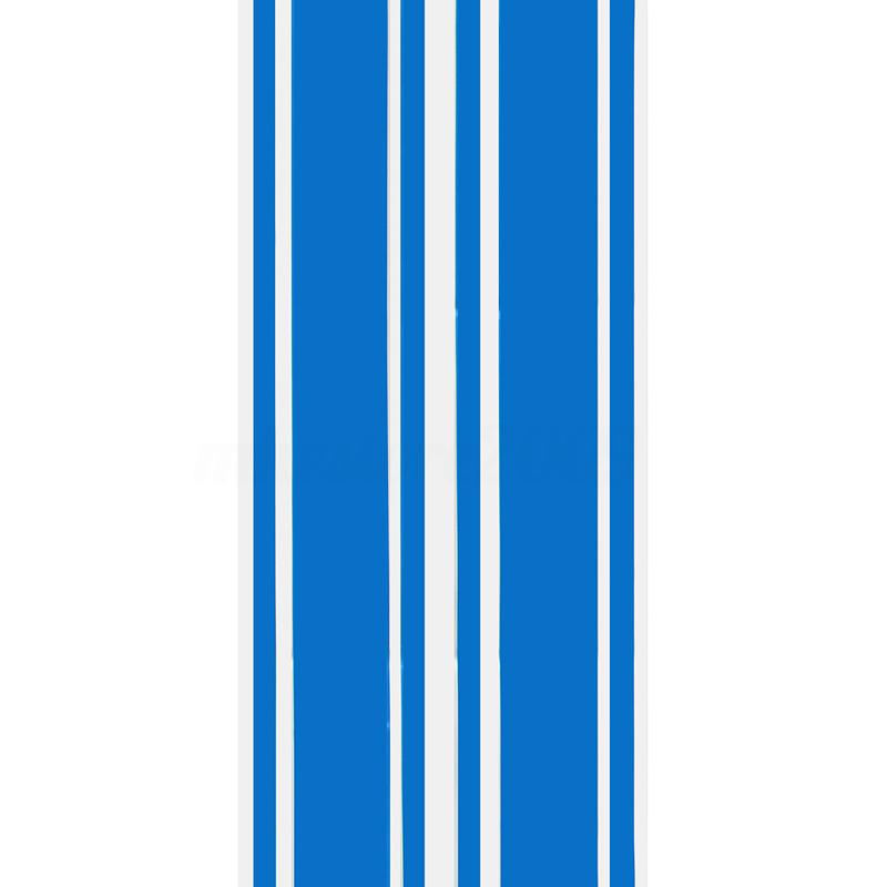 2pcs/set 72 inch x3 inch DIY Black Car Body Vinyl Racing Stripe Pinstripe Decal Stickers blue