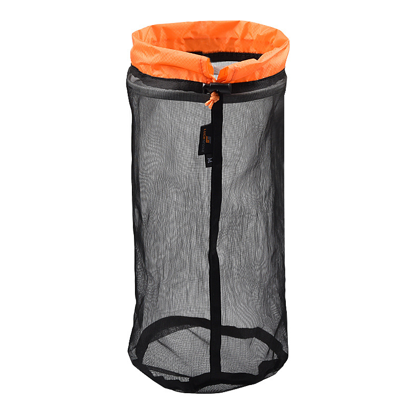 Outdoor Camping Hammock Sleeping Bag Compression Bag Waterproof Stuff Bag Hammock Storage Pouch Orange  black M