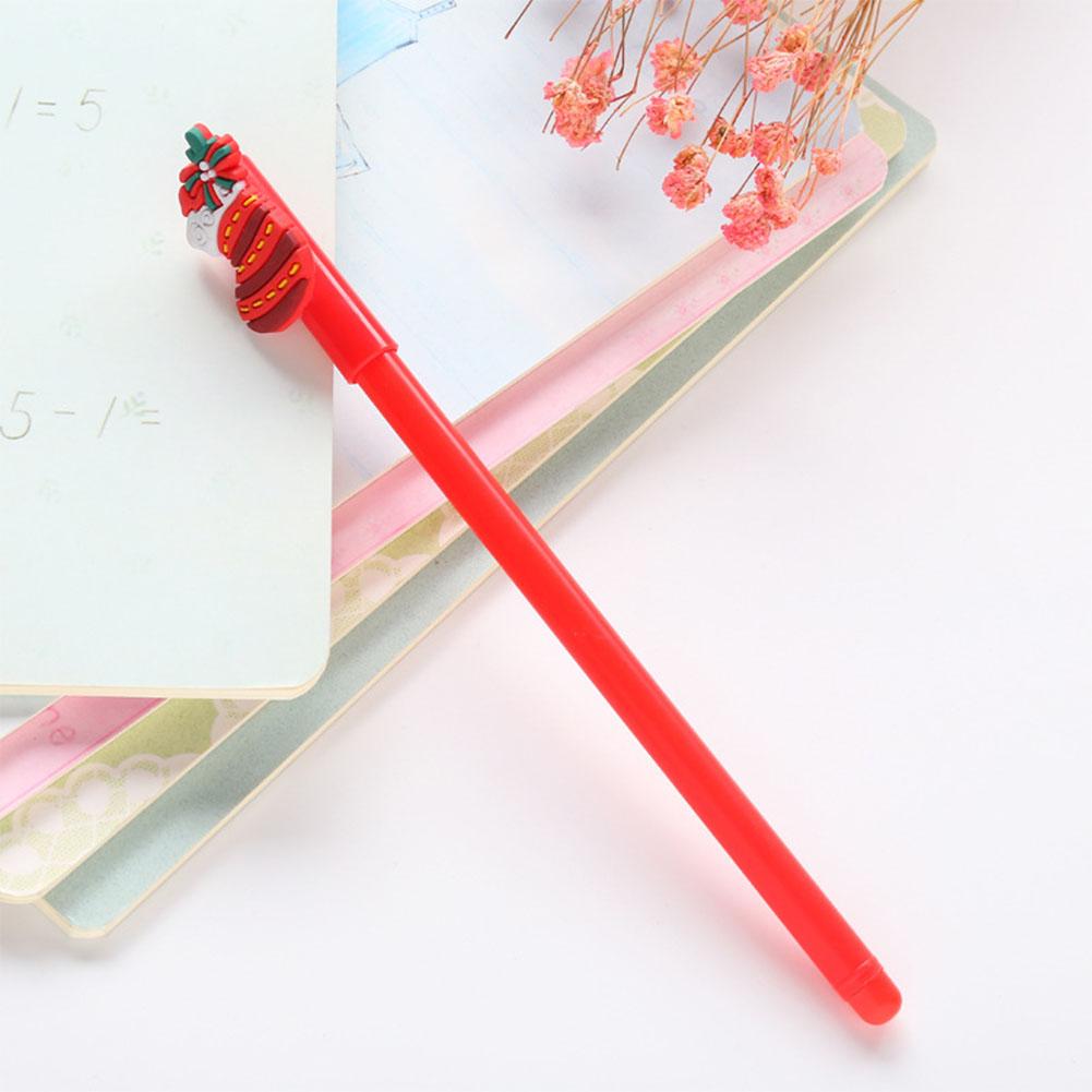 0.38mm Christmas Black Neutral Pen Cartoon Snowman Bear Sock House Deer Gel Pen red sock_0.38mm