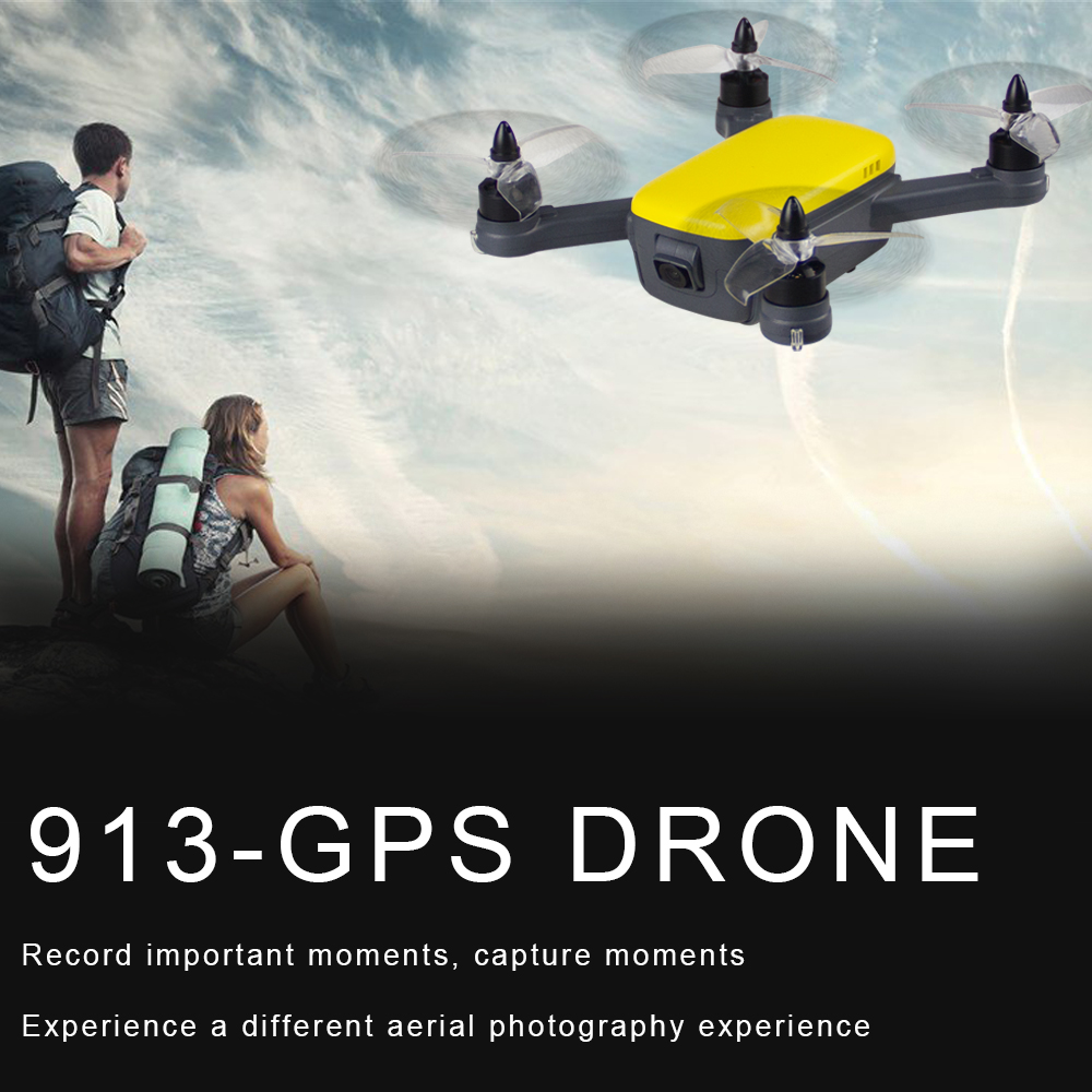 913 GPS 5G WiFi FPV with 1080P HD Camera Altitude Hold Mode Brushless RC Drone Quadcopter RTF  yellow