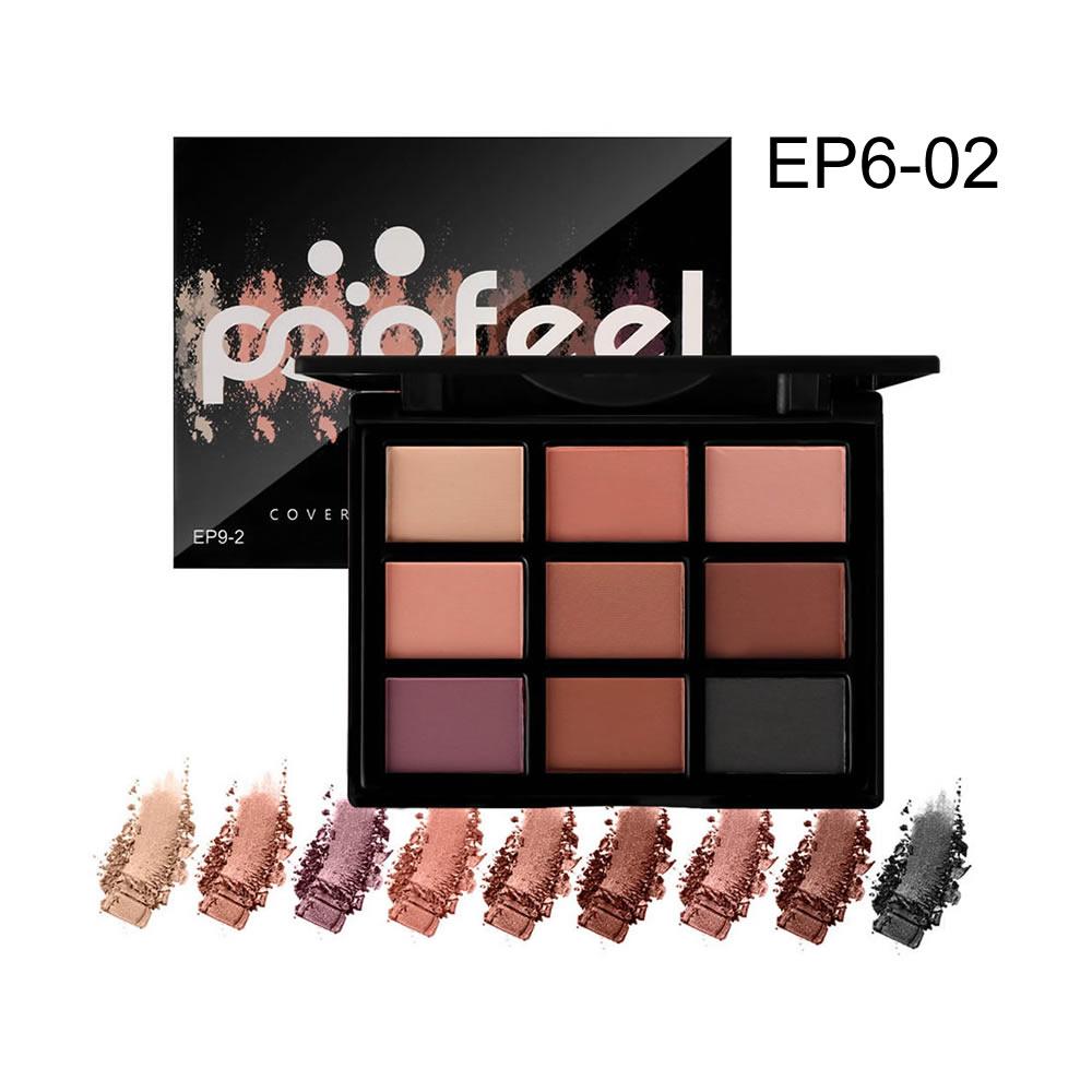 9 Color Multi-color Eyeshadow Palette Warm Color Eyeshadow Cosmetic Makeup