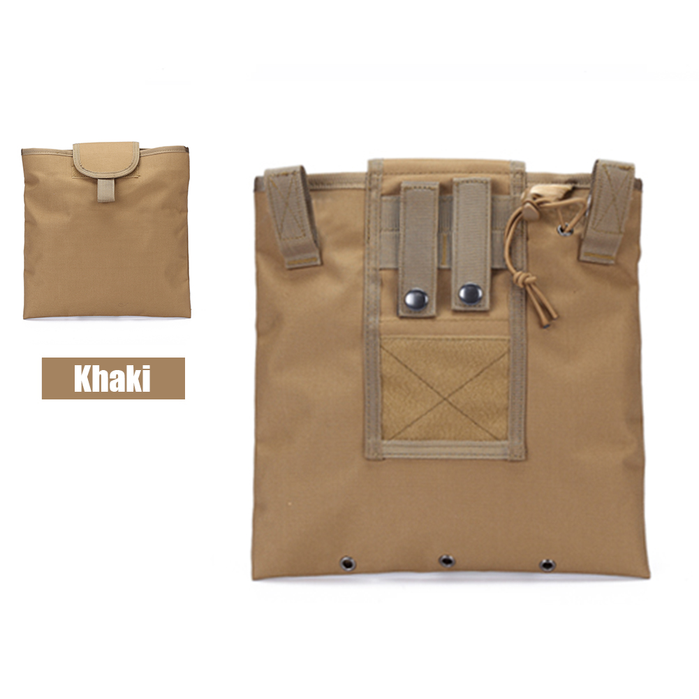 FGJ Molle Recycling Storage Bag Outdoor Multifunctional Package Magazine Dump Pouch Khaki_23cm*29cm