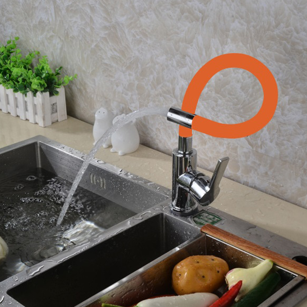 Copper Valve Body Any Direction Kitchen Faucet Cold and Hot Water Mixer Water Tap 85012-4 orange