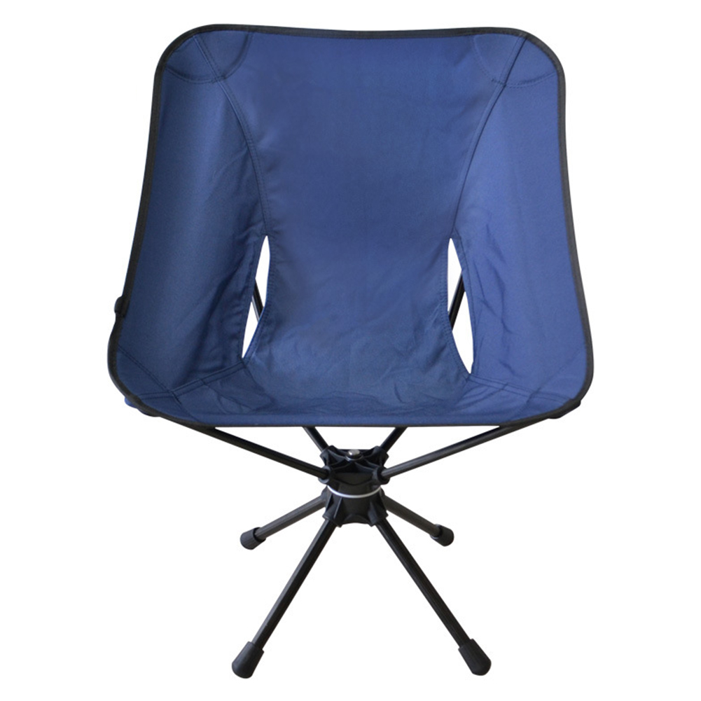 Outdoor Folding Stool for 360 Angle Rotation Leisure Chair Aluminum Alloy Super LIght Fishing Chair Camp Chair Blue swivel chair