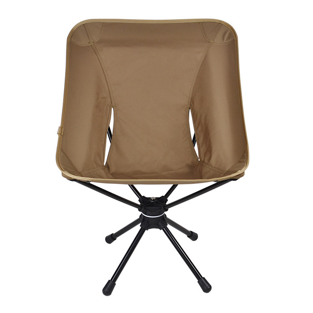 Outdoor Folding Stool for 360 Angle Rotation Leisure Chair Aluminum Alloy Super LIght Fishing Chair Camp Chair Khaki rotating chair