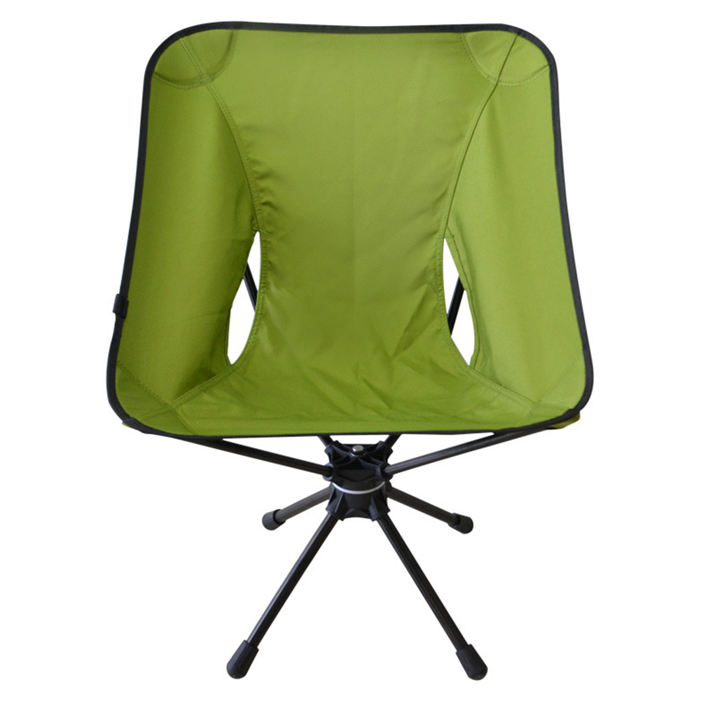 Outdoor Folding Stool for 360 Angle Rotation Leisure Chair Aluminum Alloy Super LIght Fishing Chair Camp Chair Green swivel chair