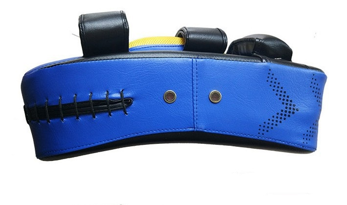 Punching Bag Boxing Pad Sand Bag Fitness Taekwondo Hand Kicking Pad PU Leather Training Gear Muay Thai Foot Target blue