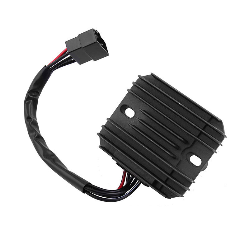 Motorcycle Metal Voltage Regulator Rectifier Motorbike Rectifier LT-F500F For Suzuki  black
