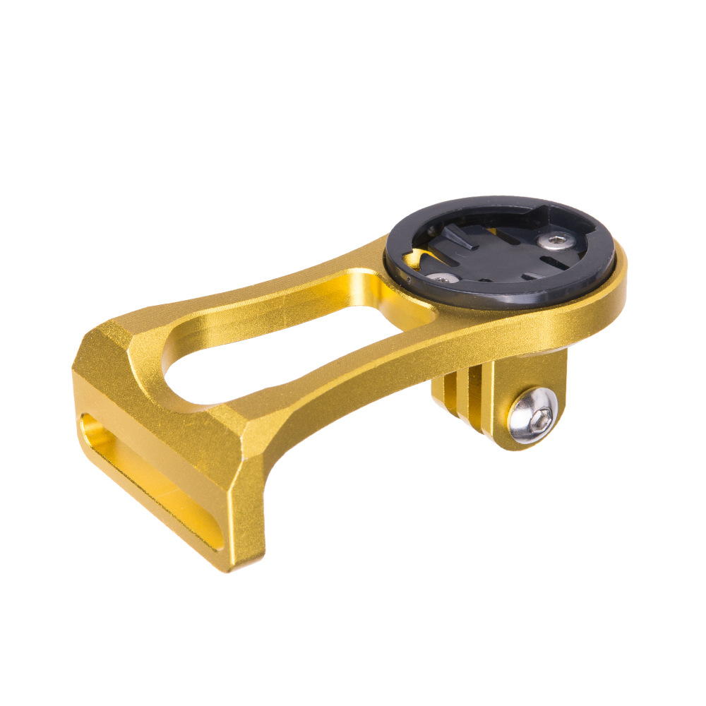 Bicycle Speed Meter Seat Extension Frame Stopwatch Extension Frame Compatible With GARMIN Bicycle Accessories Golden