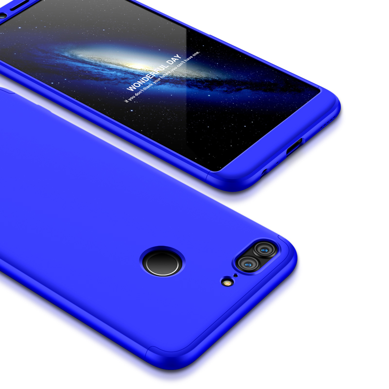 For HUAWEI Honor 9 Lite Full Body 360 Degree Protection PC Back Cover  blue