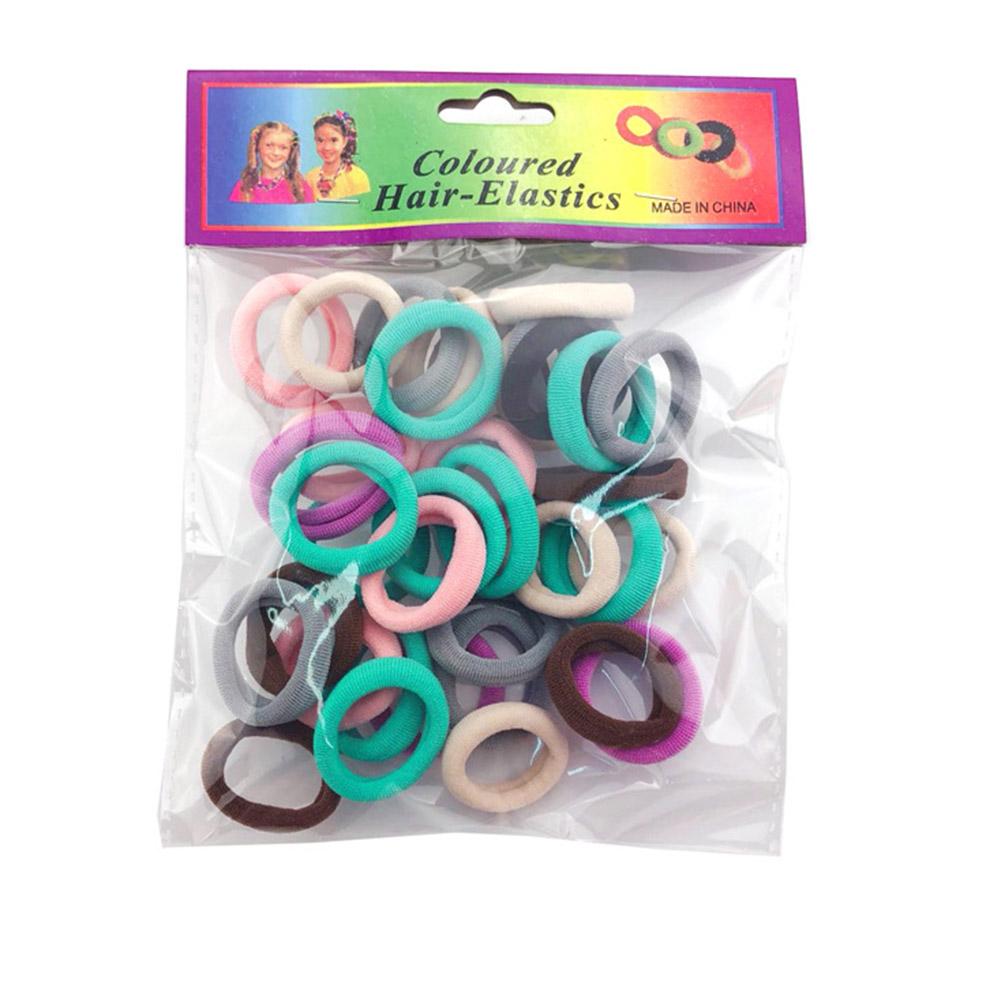 Fashion Elastic Seamless Hair Rings Set Simple Kids Girls Decoration 2.5CM