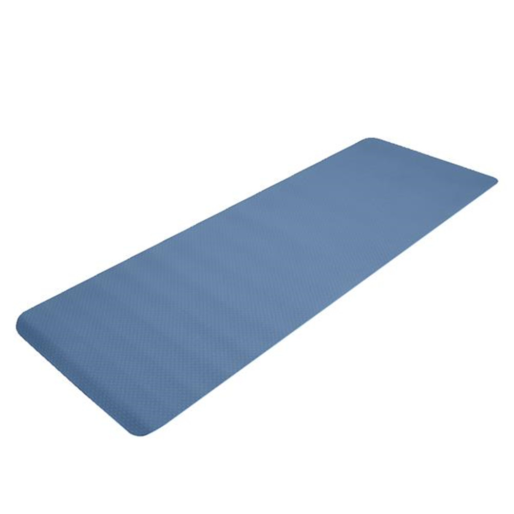 [US Direct] Tpe  Yoga  Mat 183*61*6cm Non-slip Gym Pad For Yoga Training Fitness Excercise Navy blue