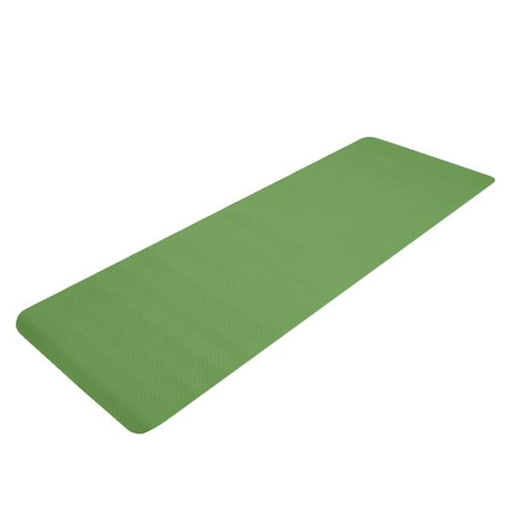 [US Direct] Tpe Yoga  Mat 183*61*6cm Non-slip Gym Pad For Yoga Training Fitness Excercise dark green