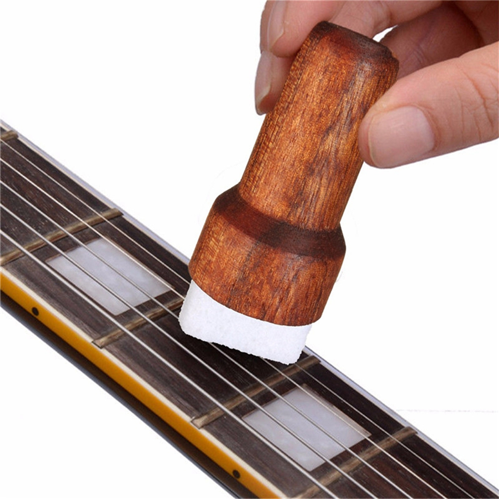 Wood Brown Guitar Bass String Cleaner Instrument Body Cleaning Tool Stringed Musical Instruments Parts  Wood color