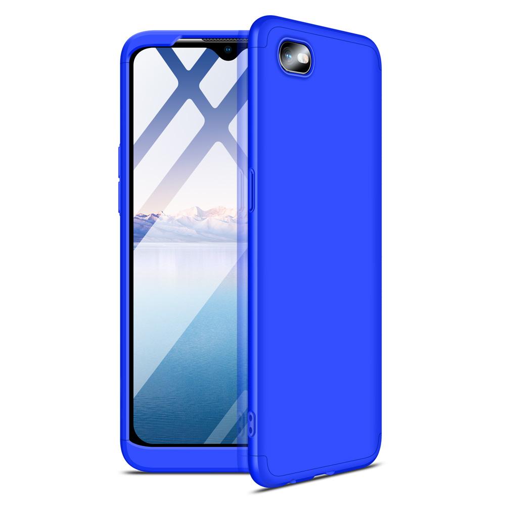 For OPPO Realme C2 Ultra Slim PC Back Cover Non-slip Shockproof 360 Degree Full Protective Case blue