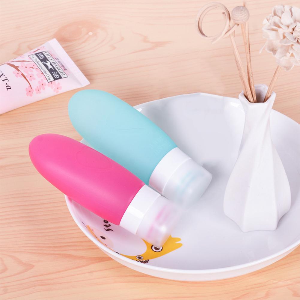 3pcs/4pcs Portable Silicone Shampoo Emulsion Bottle Creative Home Storage Empty Bottle for Travel Trip