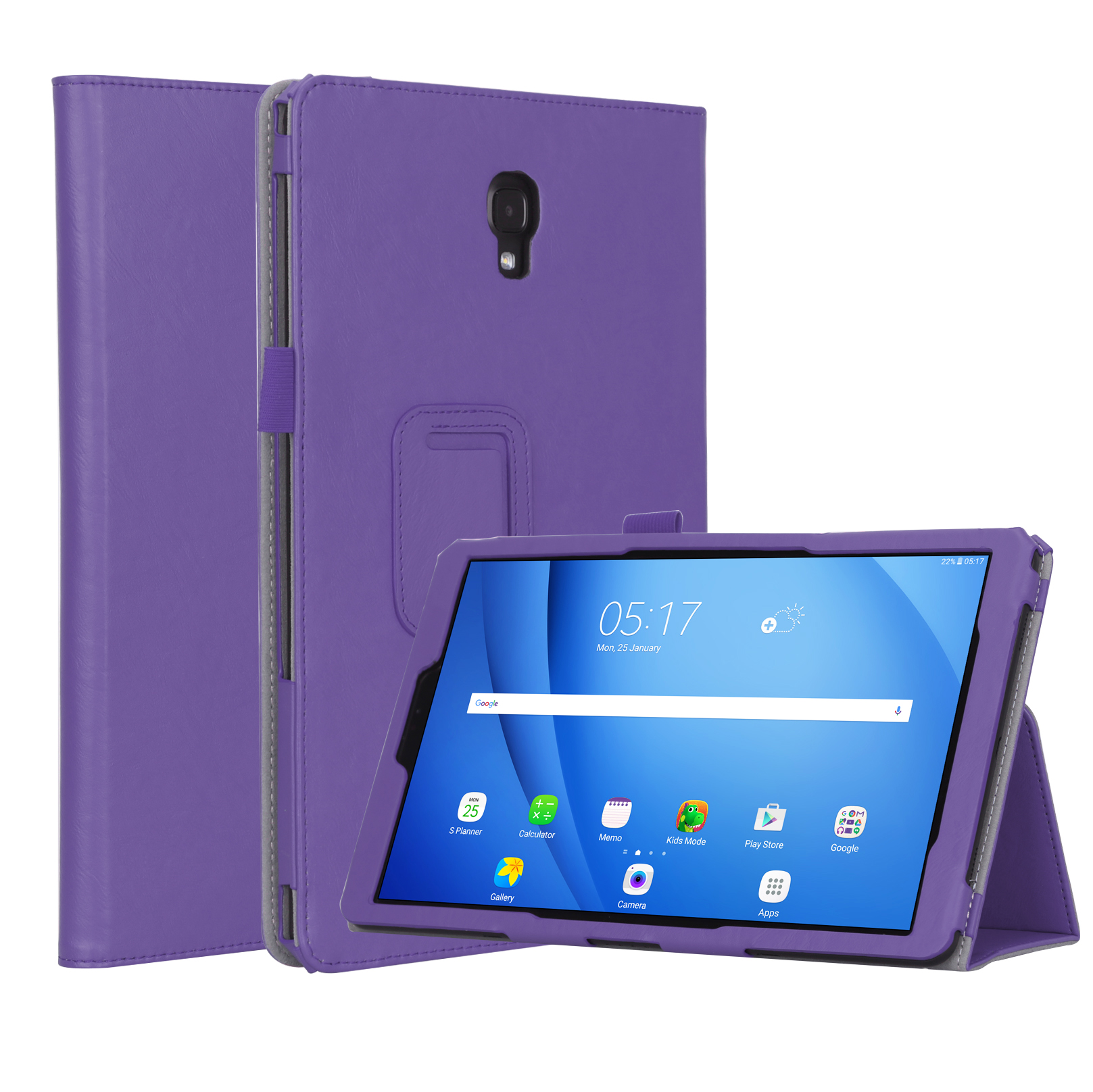 For Samsung tab A2 T590/T595 10.5 inch PU Leather Protective Case with Hand Support Card Slot Sleep Function purple_Samsung tab A2 T590/T595 10.5 inch