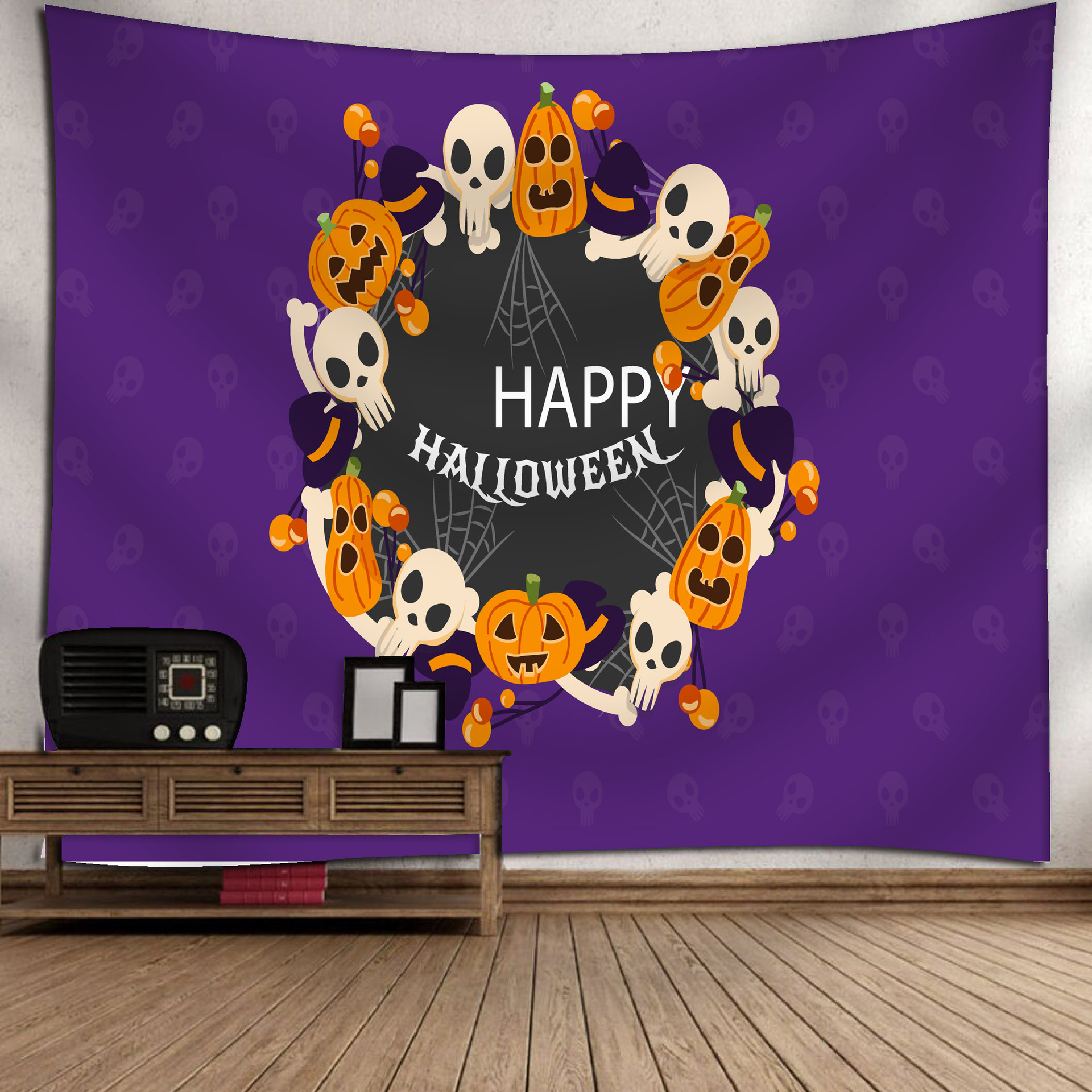 Fashion Halloween Hanging Home Tapestry Wall Decoration 15_150*130