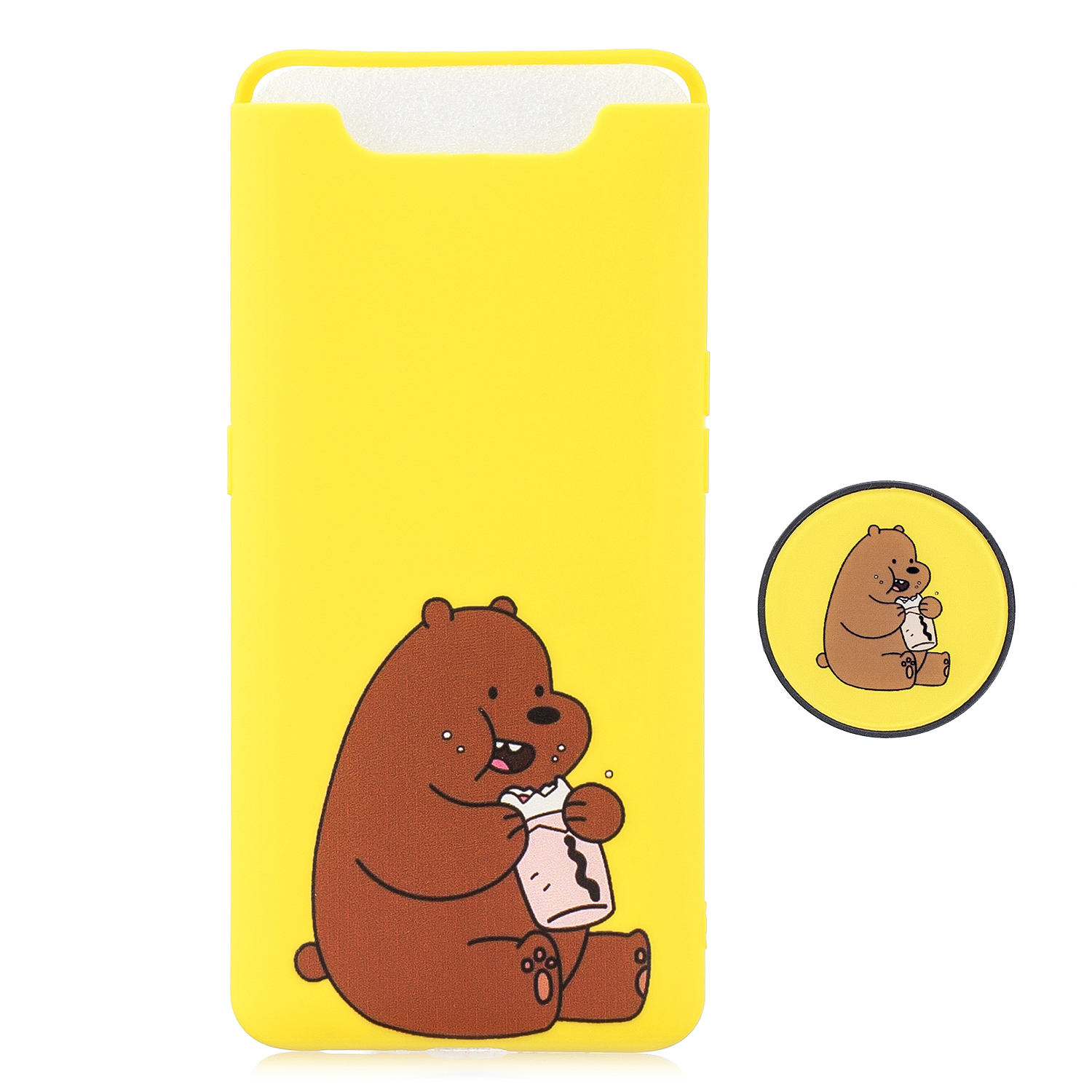 For Samsung A80 Screen Protective Shockproof TPU Full Phone Cover Cartoon Phone Case Full Body Protection Mobile Phone Case with Adjustable Bracket 8