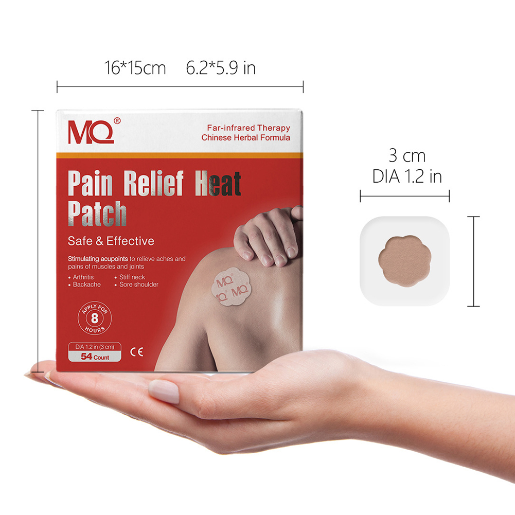 54 Pcs/Box Pain Relief Heat Patches Drug Stimulating Acupoints Relieving Aches Pains for Head joints Muscles Body Care Plaster red_54 pieces / box