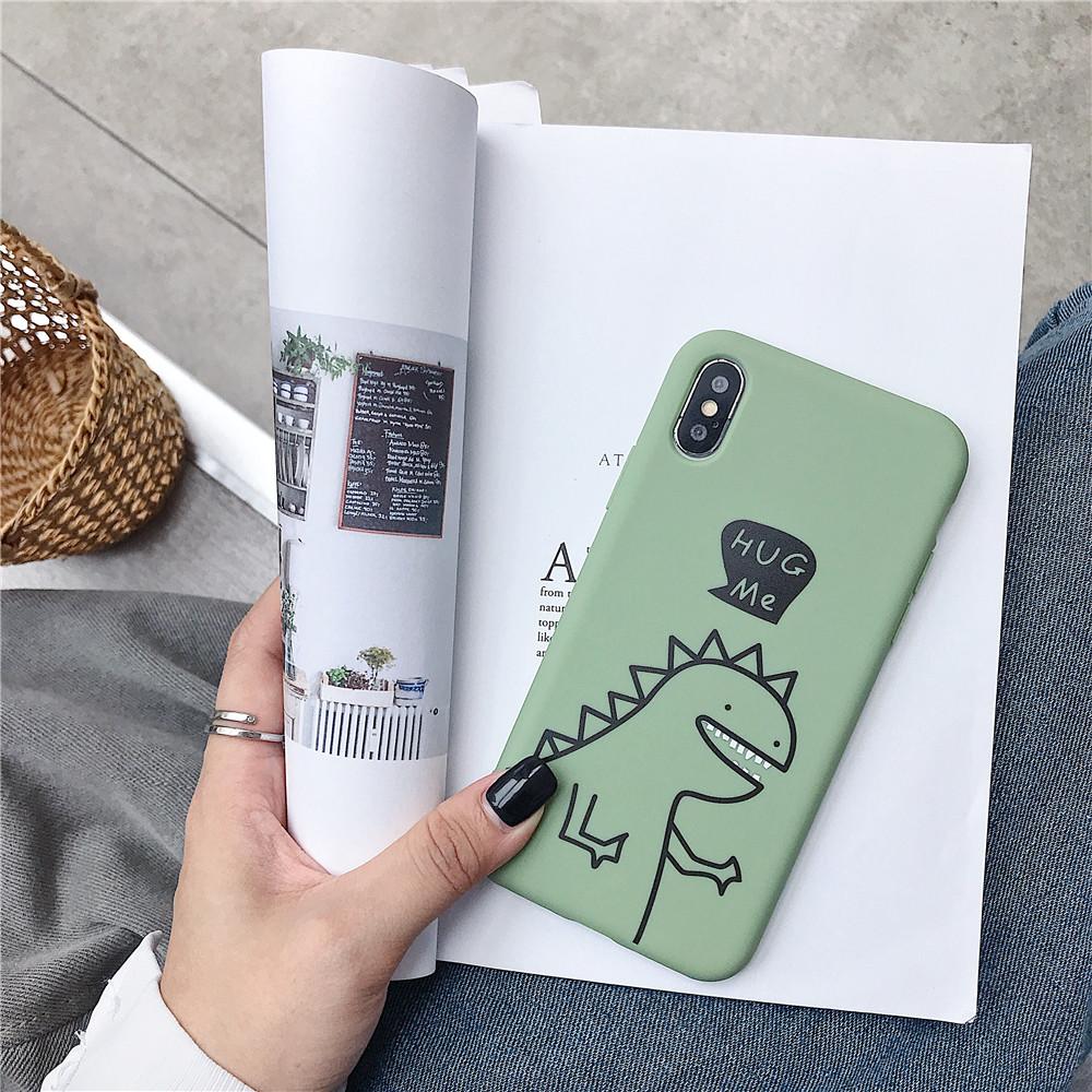 For VIVO Y66/Y67/Y91/Y95/Y93/Y97/V15/S1/Y83/Y85/Z3/Z3I/V11I/Z5X/Z1 Pro TPU Cellphone Case Shell Dinosaur Back Cover green